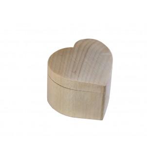 Szkatułka drewniana serce...