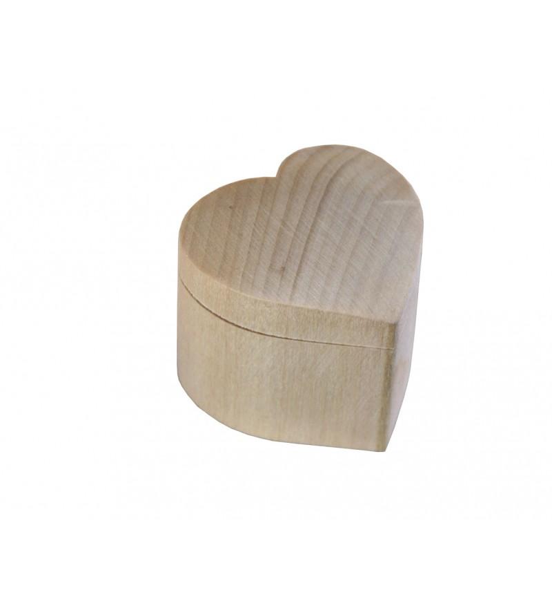 szkatułka drewniana serce
