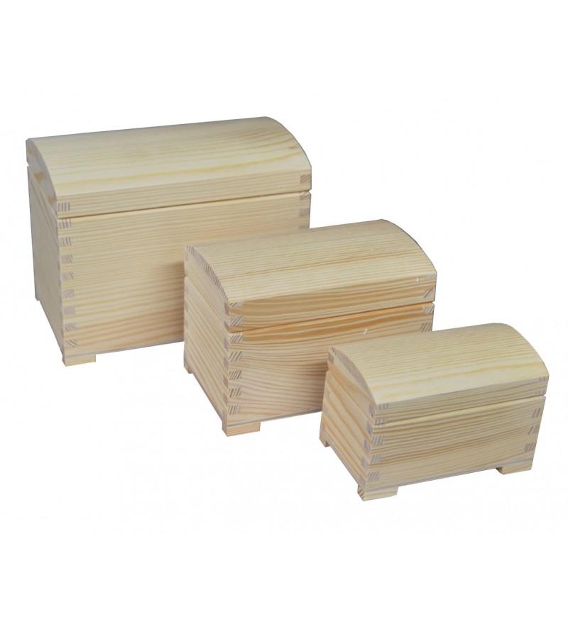 szkatułki z nóżkami półokragłe