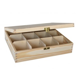 Pudełko z drewna na herbatę...