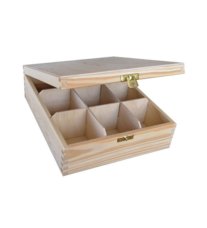 pudełko drewniane na herbatę