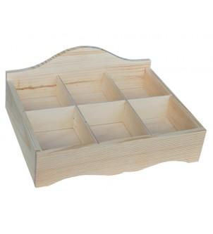 Pudełko z drewna na herbatę E6