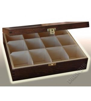 Pudełko na herbatę H12b, brąz