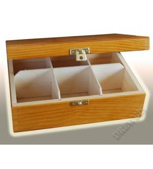 Pudełko na herbatę H6o, olcha