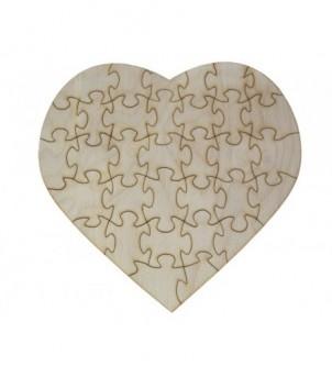 Wycinanka puzzle SERCE...