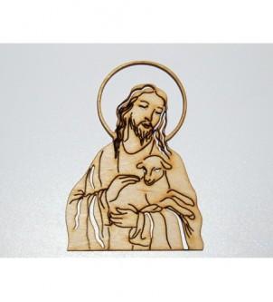 Wycinanka JEZUS Z BARANKIEM