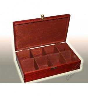 Pudełko na herbatę H8mm, mahoń