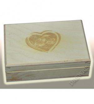 Pudełko na obrączki P14-serce