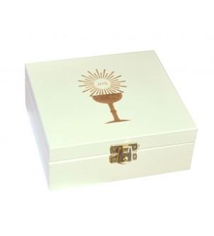Pudełko drewniane białe...