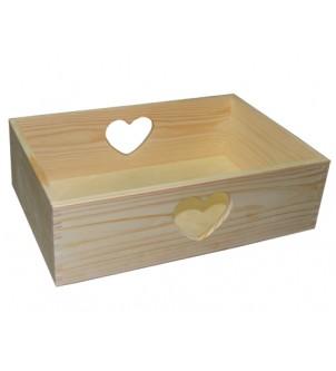 Skrzynka drewniana mała z...