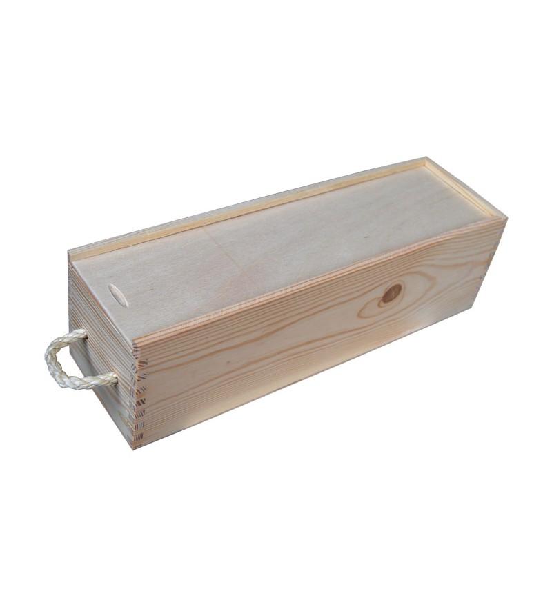 skrzynka z drewna na 1 wino