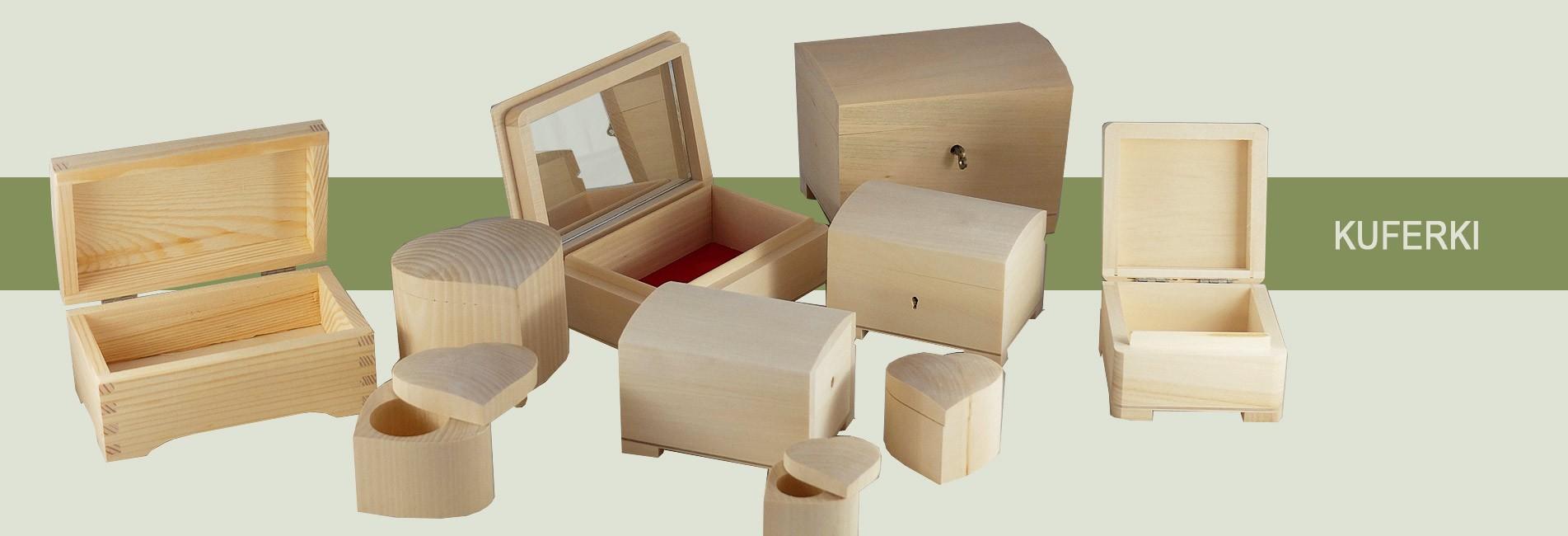 Kuferki z drewna