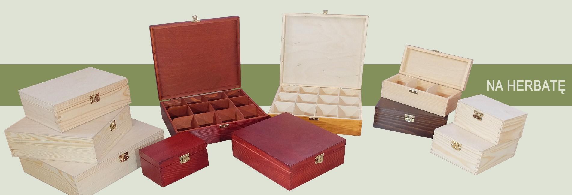 Pudełka z drewna na herbatę