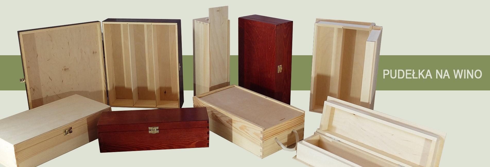 Pudełka z drewna na wino